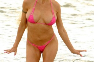 Frenchy Morgan uncensored bikini pictures #1