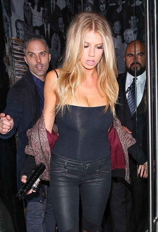Charlotte McKinney Charlotte McKinney flashes serious side boob in Los Angeles