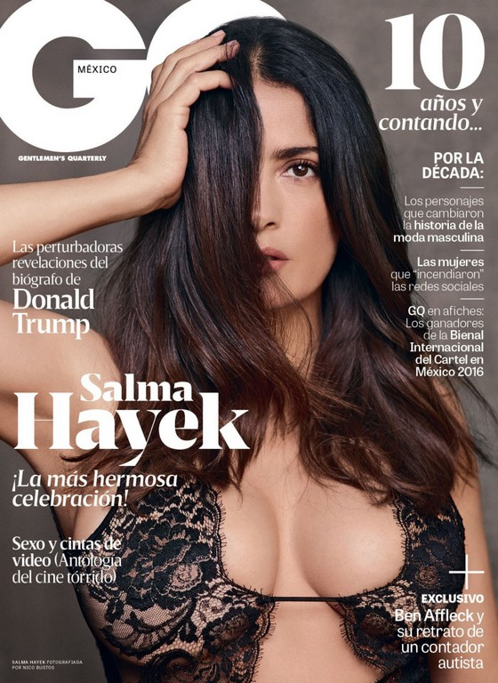 Salma Hayek sizzles in just her bra for sexy GQ cover shoot Salma Hayek sizzles in GQ Mexico
