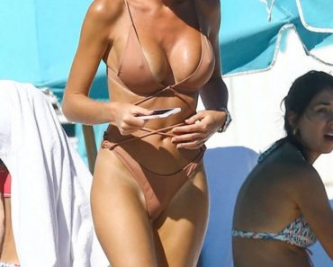 Anastasia Skyline Bikini with Big Hard Nipples