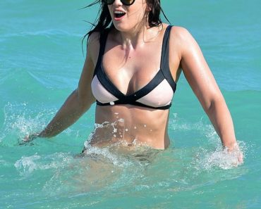 Daisy Lowe Beach Bikini Photos