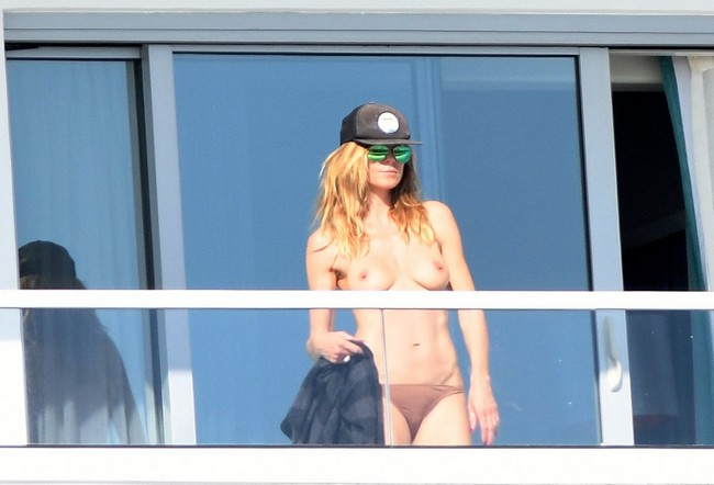 Heidi Klum Heidi Klum uncensored Topless Nude Photo in Miami (15 Photos)