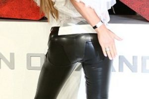 Katie Price leather bum