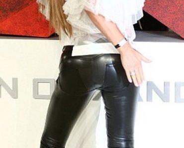 Katie Price leather bum