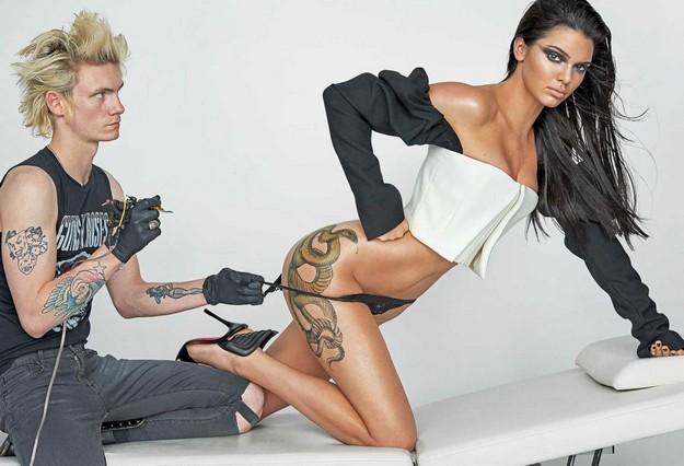 Kendall Jenner Kendall Jenner Flaunts snake tattoo on her butt for V Magazine shoot