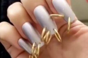 Kim Kardashian Reveals Bizarre Nail Piercings Fashion Trend