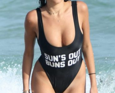 Madison Beer Black Swimsuit