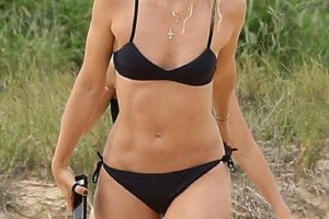 Maria Sharapova Black Bikini