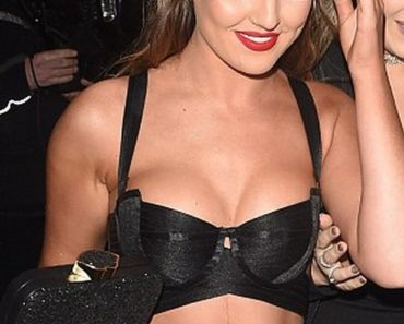 Perrie Edwards black bra top outfit