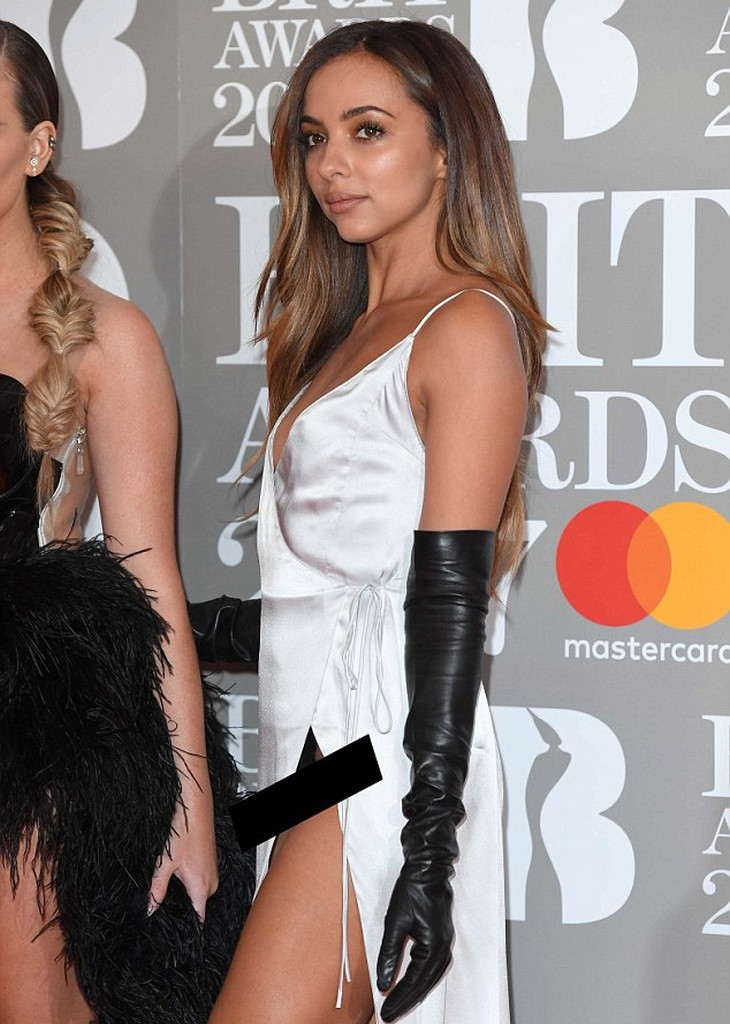 Jade Thirlwall  Brit Awards 2017: Jade Thirlwall Suffers X rated Wardrobe Malfunction (7 Pics)