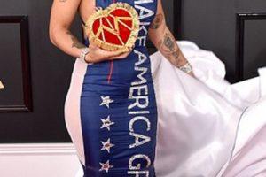 Joy Villa in Trump Dress
