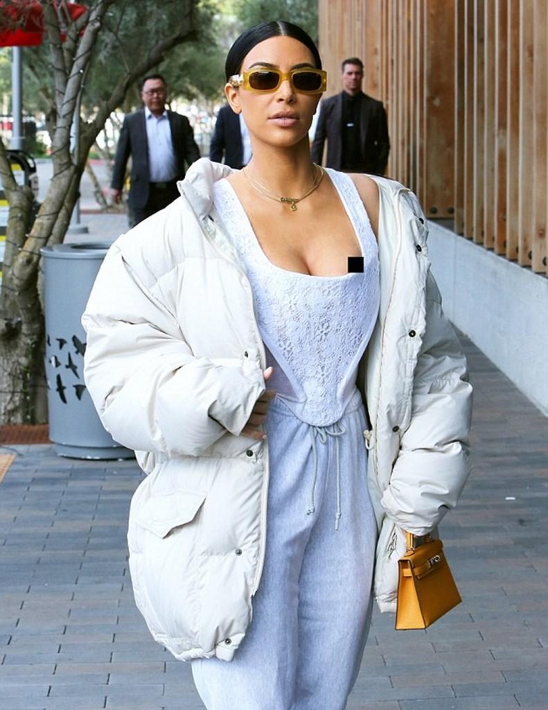 Kim Kardashian 11 Kim Kardashian Suffers Nip Slip Wardrobe Malfunction (8 Pics)