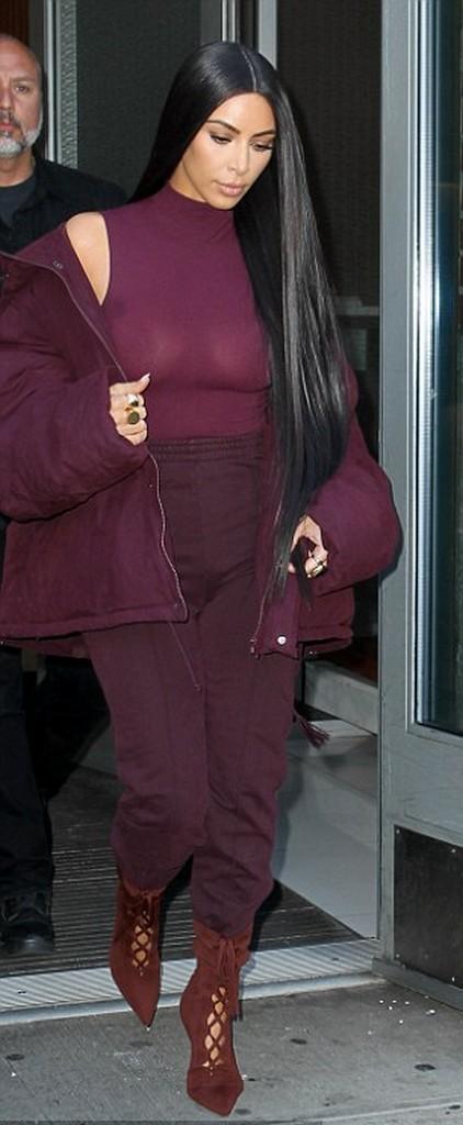 Kim Kardashian Flashes Nipples Again in Bizarre Outfit