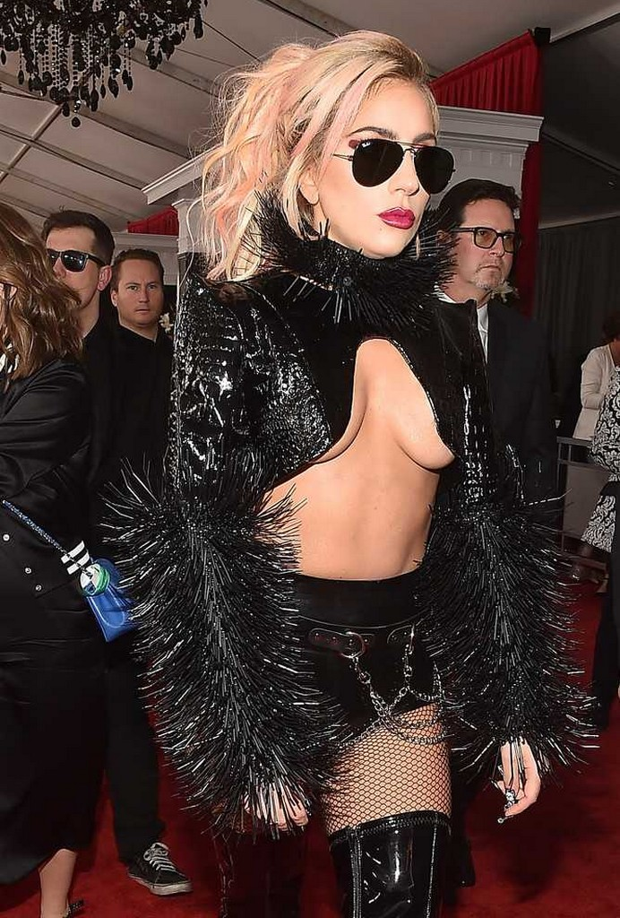 Lady Gaga 8 Grammys 2017   Lady Gaga Breast Popped Out Wardrobe Malfunction