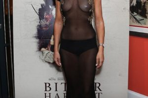 Victoria Hervey Shows Nipple In See Through Sheer Dress