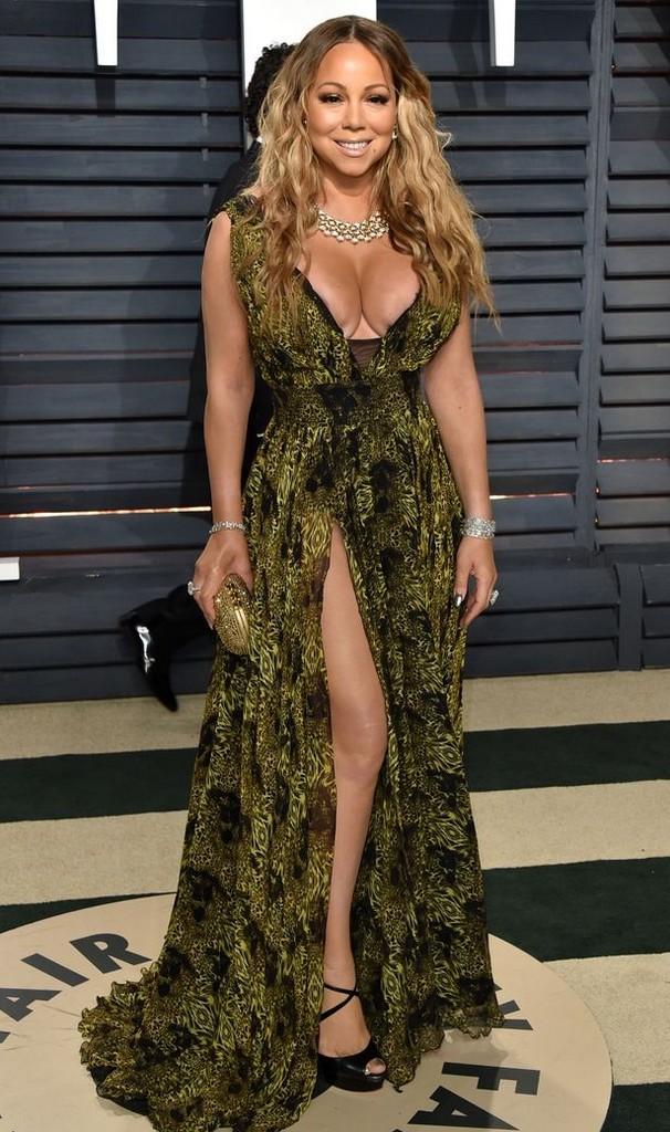 Mariah Carey Mariah Carey Wardrobe Malfunction, Nip Slip At Oscars Red Carpet (6 Pics)