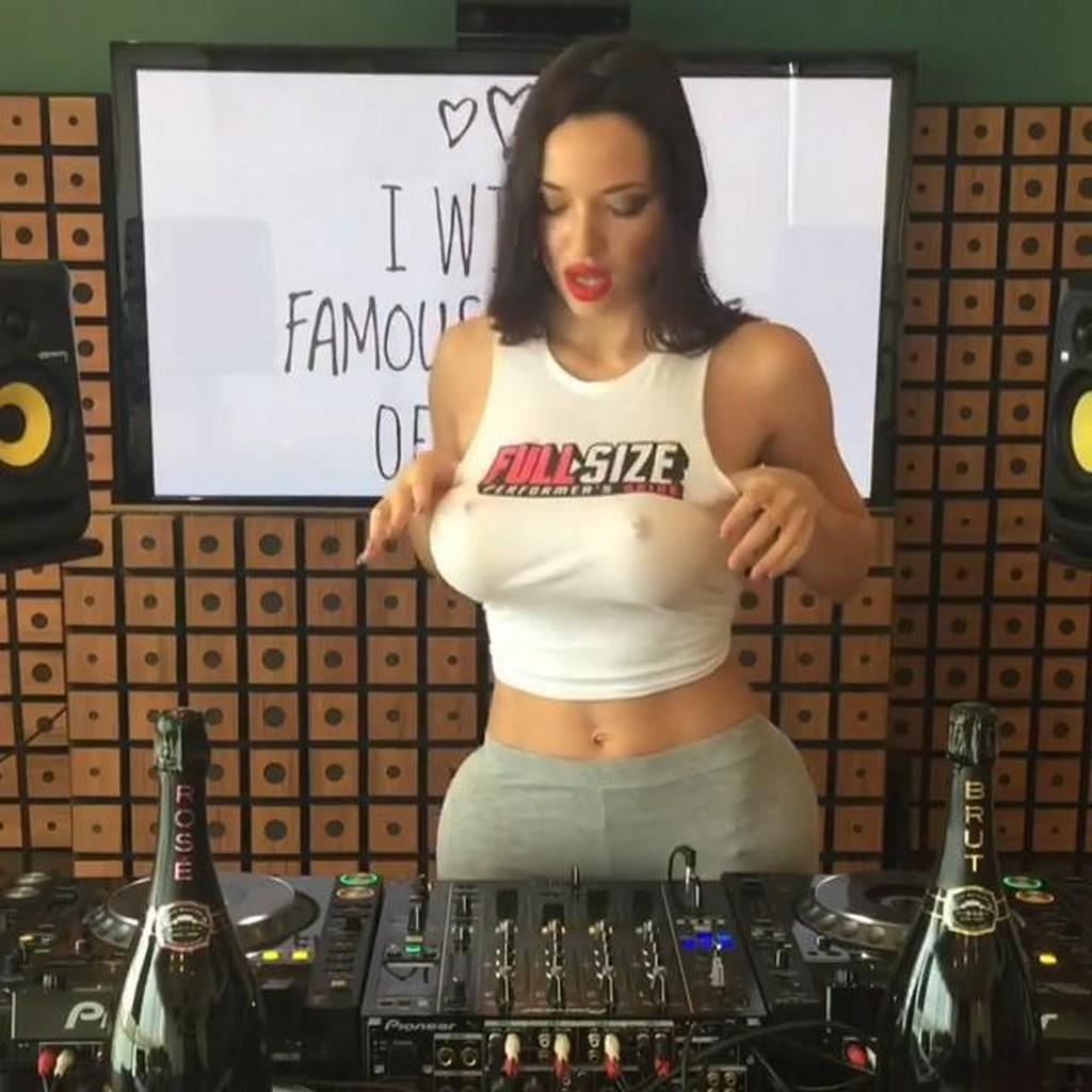 Model DJ Model DJ Shares Her Huge Boobs Nipples Photo on Facebook