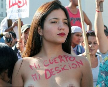 Topless Women Protest