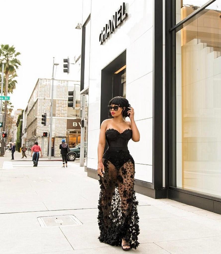 Blac Chyna See Through dress black Blac Chyna In A See Through Dress (3 Pics)
