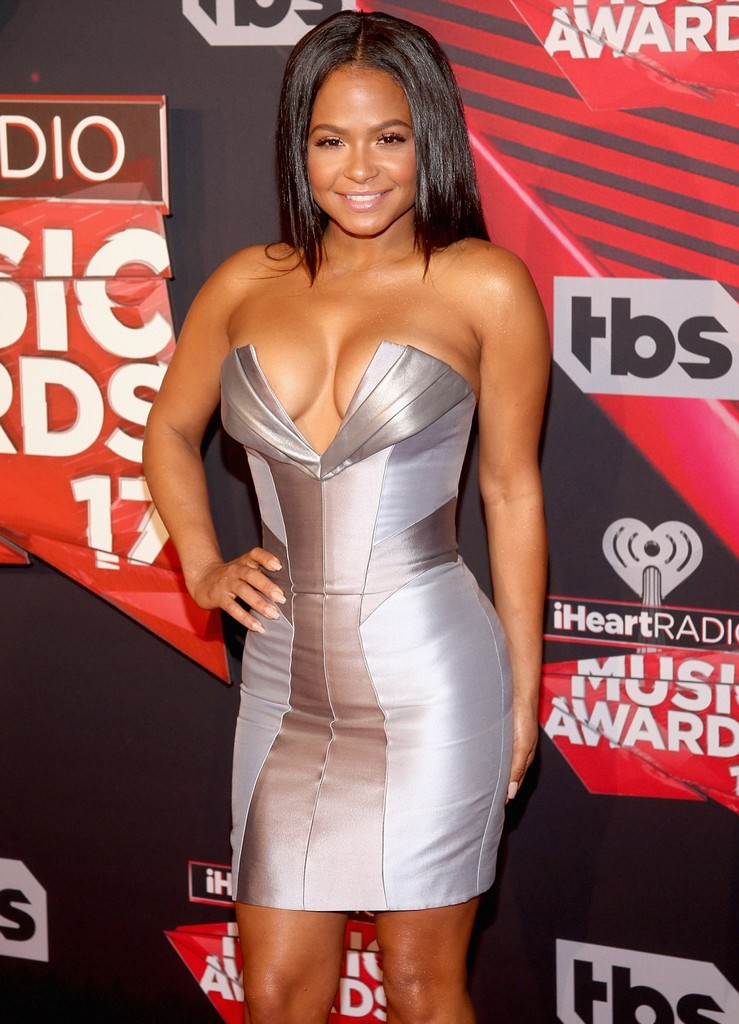 Christina Milian  Christina Milian Hot Cleavage Show At iHeart Radio Music Awards (4 Pics)