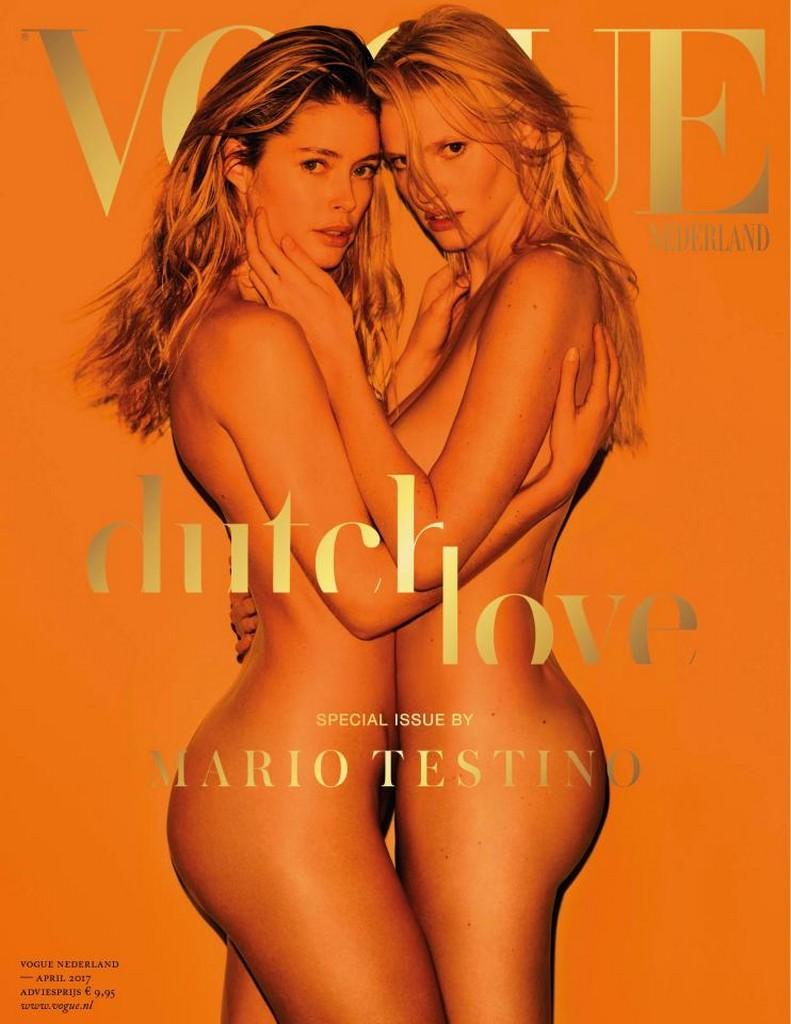 Doutzen Kroes and Lara Stone 1 Doutzen Kroes and Lara Stone Topless For Vogue Netherlands 2017 (5 Pics)