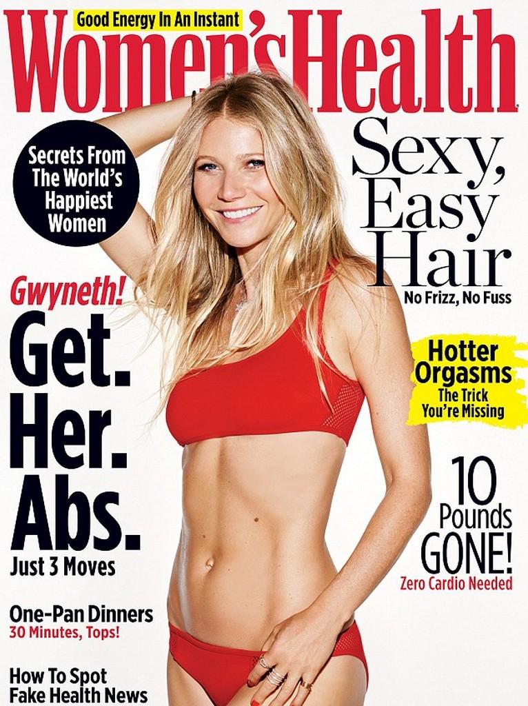 Gwyneth Paltrow Gwyneth Paltrow On Womens Health Magazine Cover (3 Pics)