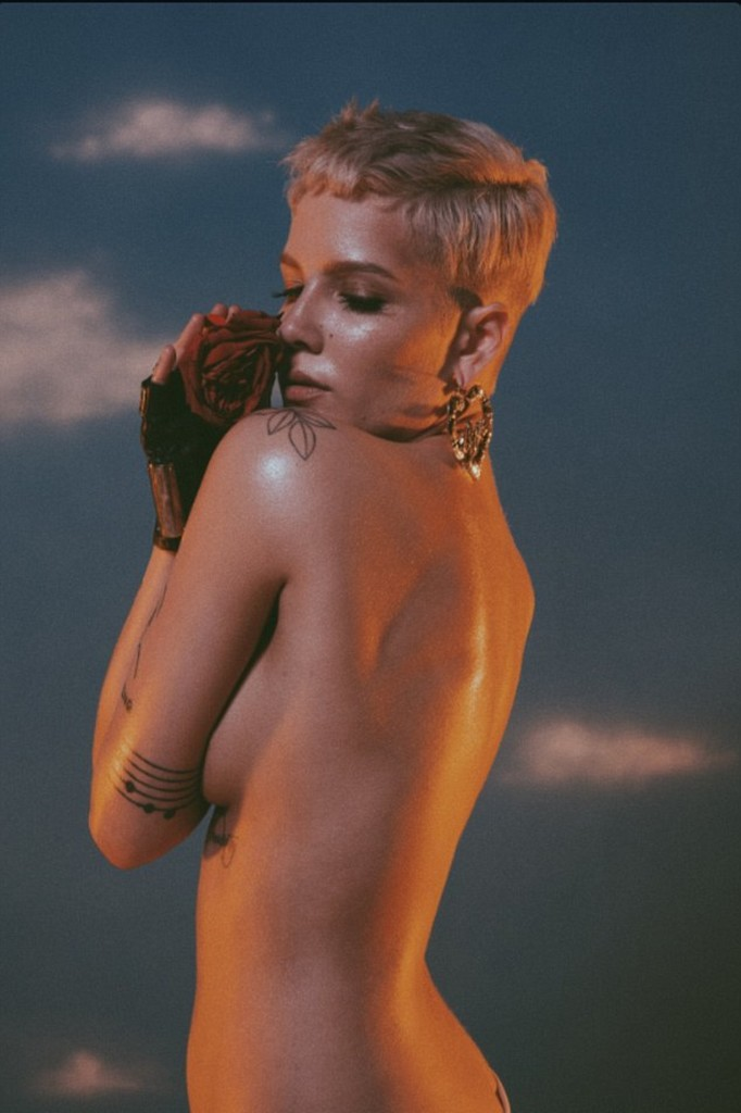 Halsey Singer Halsey Steps Out Topless To Promote Her New Album Hopeless Fountain Kingdom (4 Pics)