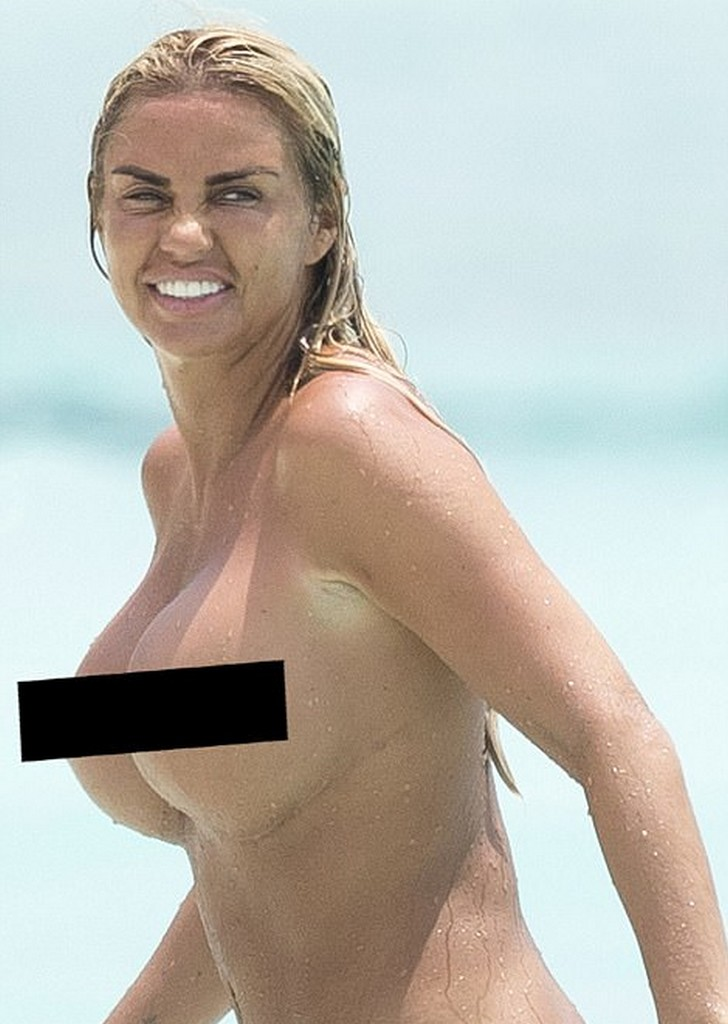 Katie Price topless Katie Price Topless Beach Pictures (8 Pics)