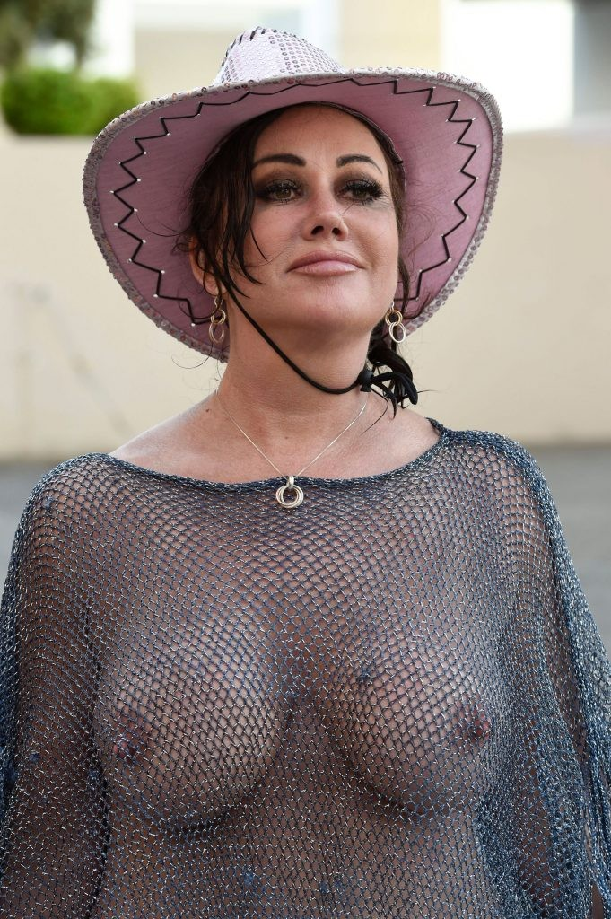 Braless Lisa Appleton Shows Off Boobs Lisa Appleton Goes Braless Showing Off Boobs In See Through Top (14 Pics)