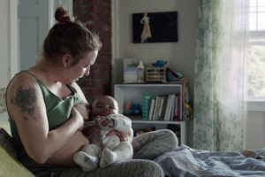Lena Dunham Topless Breastfeeding Pictures