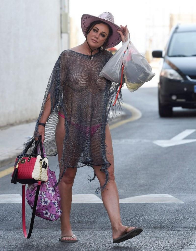 Lisa Appleton Goes Braless Lisa Appleton Goes Braless Showing Off Boobs In See Through Top (14 Pics)