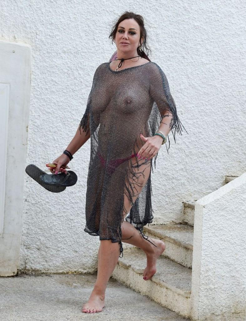 Lisa Appleton See Through Braless Pics Lisa Appleton Goes Braless Showing Off Boobs In See Through Top (14 Pics)