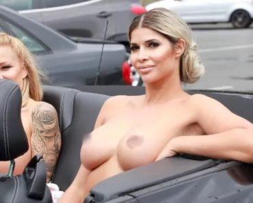 Micaela Schäfer Naked in Car